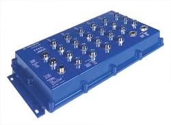 24 портовый IP67 Industrial ETHERNET/Fast ETHERNET управляемый коммутатор с поддержкой HIPER-Ring, 10/100 BASE-TX, M12 D coding,