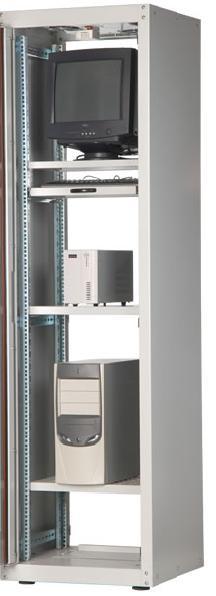19 дюймовые монтажные шкафы ECOline без двери
