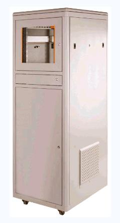 Компьютерный шкаф 3-секционный 36U 600x800x1744 mm с металлической дверью, серый