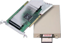 PCI Bus to PC Card Read-Writers 2 Slot External (0.75m cables included)