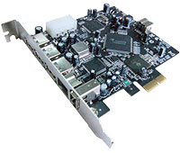 PCI Express to USB 2.0 and FireWire 800/400 Combo Host Adapter 3+2+1 Ports F-280