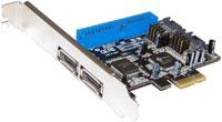 PCI Express to Serial ATA (eSATA II/300) 02.фев Port Host Adapter w/RAID A-350 (мин. заказ 8шт.)