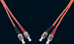 Оптоволоконный патч-корд 9/125, ST-ST UPC, duplex, 3х2 мм, PVC, 3 метра