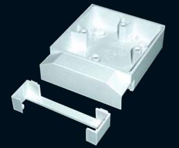 Подрозетник для монтажа розеток на стену для коробов 16х16 и 25x16 ( накладывающийся )