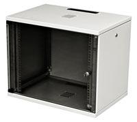 """Шкаф настенный 19"""", серия SU, 18U, 871x600х600, со стеклянной дверью, с открывающимися стенками"""