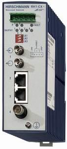 2 порта 10BASE-T, RJ45 (TP-100м); 1 Port 10BASE-FL, BFOC (MMF-2 км); 1 Port 10BASE-2, BNC (Coax-185м); IP30; DIN-rail RH1-CX+ (N