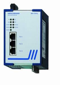 3 порта 10BASE-T с RJ45 (экр. ТР - 100м) и 2 порта 10BASE-FL с ВFOC, (MMF 50/125мкм - 2600м, 62,5/125мкм - 3100м); Защ.IP 30; DI