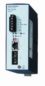 1 порт 100Base-TX c RJ45 и 1 порт 100BASE-FХ c SC (SMF - до 40 км); Защ. IP20; DIN-rail RT2-TX/FX-SM