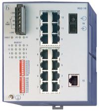 15 портов 10/100BASE-TX с RJ45 (ТР - 100м), и 1 порт 100BASE-FХ с SC (SMF - до 30 км); Защ.IP 20; DIN-rail; RS2-16 1SM SC