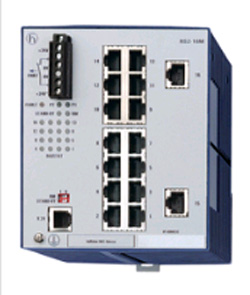 16 портов 10/100BASE-TX с RJ45 (ТР - 100м); Защ.IP 20; Упр.SNMP и Web-based; DIN-rail; HIPER-Ring RS2-16M