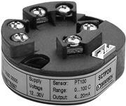 Конфигурируемый температурный измерительный преобразователь, выход 4-20/20-4 мА, без изоляции, монтаж в головку зонда