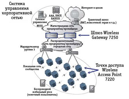 Рисунок 1: Типичная схема организации сети.